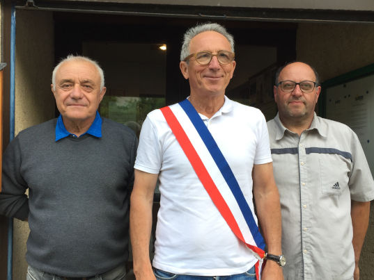Le maire du Freney et ses adjoints